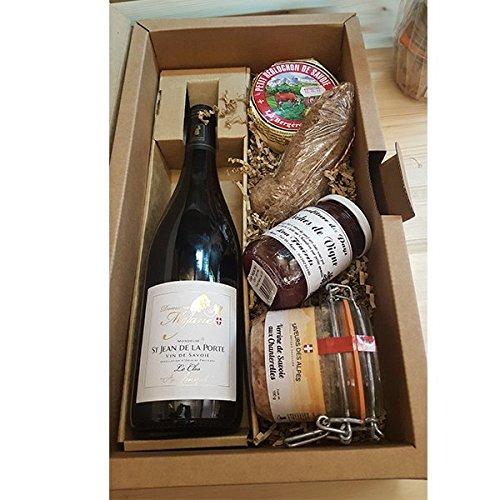 Coffret cadeau 100% savoyard : Vin, reblochon, terrine, confiture, saucisson - Panier cadeau