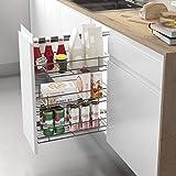 Casaenorden - Estante extraíble Lateral Reversible para Mueble de despensa de Cocina, 200 mm Ancho Mueble/Alto Producto mm 1150