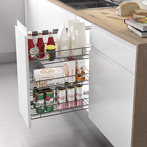 Casaenorden - Estante extraíble Lateral Reversible para Mueble de despensa de Cocina, 200 mm Ancho Mueble/Alto Producto mm 600