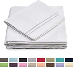 California King Size Bed Sheet Set - White Cal King Bedding - Deep Pocket - Extra Soft Luxury Hotel Sheets - Hypoallergenic - Cool & Breathable - Wrinkle, Stain, Fade Resistant - 4 Piece