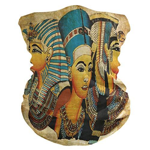 QMIN Serre-tête de parchemin égyptien ancien motif bandana visage protection solaire masque tour de cou guêtre magique foulard cagoule pour femme homme garçon fille