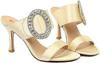 1dffd8d78ae9d3 Femmes Escarpins Sandales Chaussures Slip-on Peep Toe Stiletto Ladies  Fashion Party Banquet Chaussures à