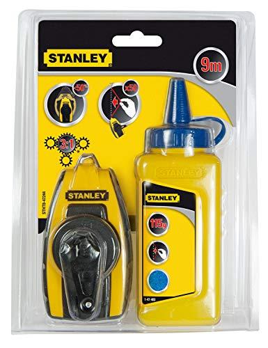 Stanley STHT0-47244 Kit de Cordeau traceur 9 m Compact avec poudre