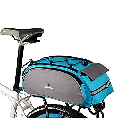Meanhoo Bike Rear Rack Bag, 1Pcs Waterproof Bicycle Rack Carrier Bags Cooler Bikes Panniers Bicycles Back Trunk for Cycling, Rack Trunks, Blue