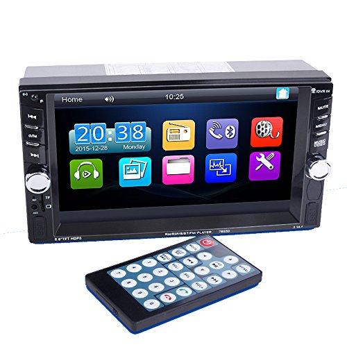 PolarLander Autoradio 2 DIN 6.6 Pouces Bluetooth dans Dash écran Tactile véhicule Radio Audio MP5 stéréo Lecteur MP3 Dual USB Messages
