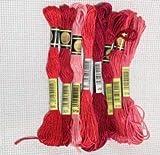 Hilos de Bordado de Hilo 8pcs / Set Hilos de algodón de Punto de Cruz Floss 8 Metros de Hilo Bordado de Hilo Dental de Costura madejas Arte del Tejido (Color : 4, Size : A)