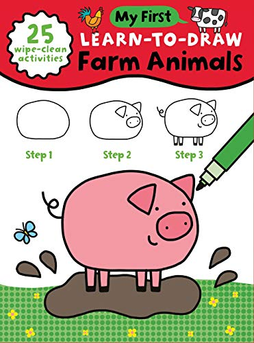 My First Learn-To-Draw: Farm Animals: (How to Draw for Kids with Easy Wipe Clean Pages + Dry Erase Marker!) (My First Wipe Clean How-To-Draw)