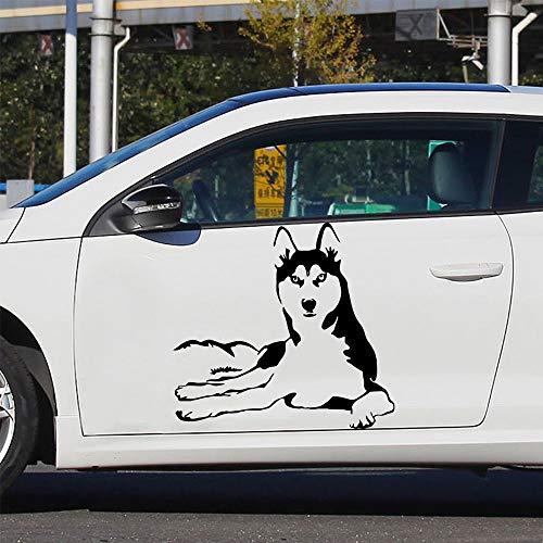 YuanMinglu Husky Autoaufkleber- Kratzer am Auto abdecken Persönlichkeit Vinyl Aufkleber_Abziehbilder für Auto Motorrad Karosserie Auto30cm X 32cm