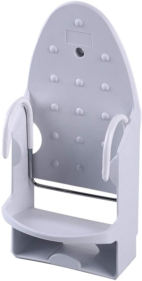 hqclothingbox Wall Mounted Ironing Board Rack Electric Iron Holder Household Bathroom Shelf Holder Rack Electric Iron Holder Household Bathroom Shelf - for Max 5.5 inch Width (White)