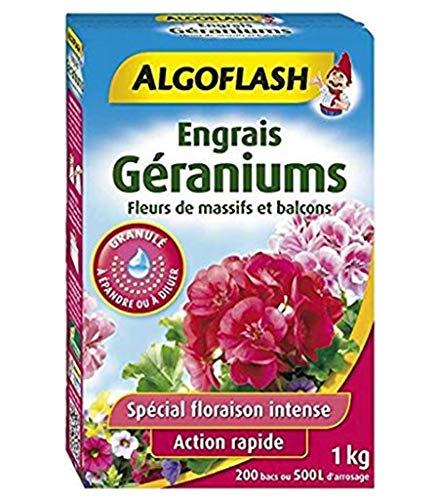 ALGOFLASH Geranien-Dünger, für bis zu 200 Becken, Blumen- und Balkonblumen, 1 x kg, SMART1