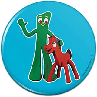 Minga Gumby/'s Little Sister Clay Art Kitchen Refrigerator Locker Button Magnet