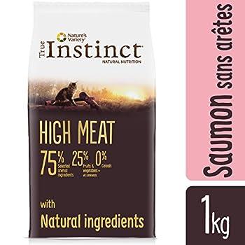 True Instinct High Meat Adult - Nature's Variety - Croquettes pour Chat Adulte avec Saumon sans Aretes et thon - 1kg