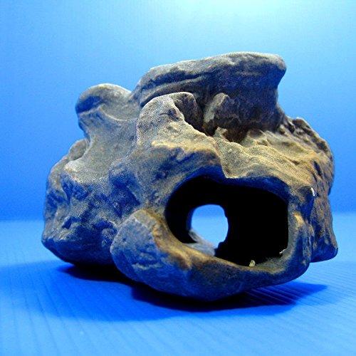 DR. Moss Aquarium Decorations Cichlid Stone Marine Rock Cave Decor Decorative Fish Tank Freshwater Saltwater for Small Girls Tiny Turtle Reptile