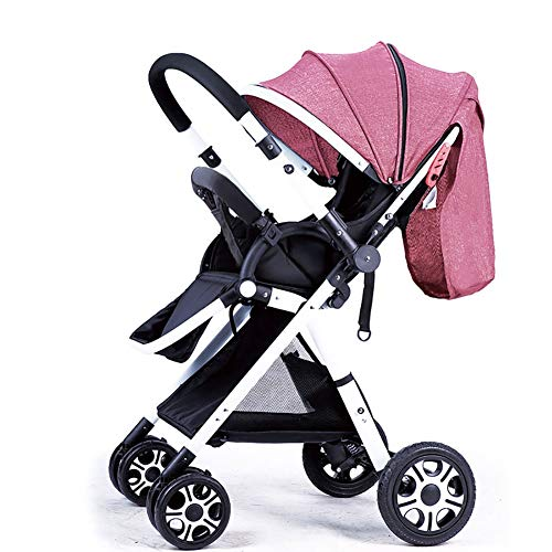 Learn More About JIE KE Stroller Handle Reversible Stroller Can Sit Down and Lie Down Ultralight Por...