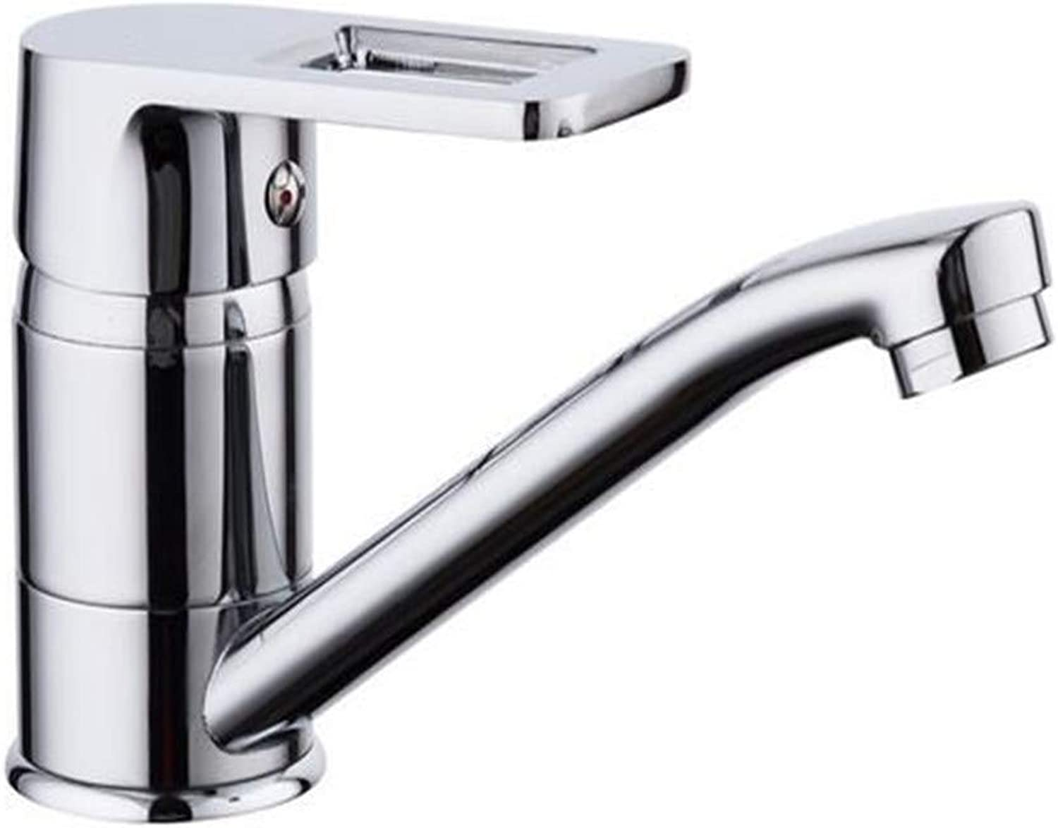 Brass Kitchen Modern Classic Chrome Kitchen Sink Faucet Zinc Alloy Kitchen Sink Mixer Tap Hot & Cold Water Faucet