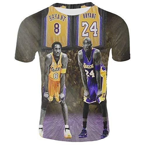 anking T-Shirt de Baseball T-Shirt imprimé en 3D Kobe Bryant Thin Baseball Uniform Lakers # 24 Legendary Basketball Star T Shirt Black Mamba Tops, 8 et 24,2XL