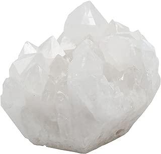 QGEM Natural Rock Crystal Quartz Cluster Druzy Geode Specimen,Mineral Gemstone Ornament Decor 0.2lb-0.4lb