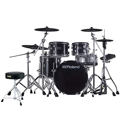 Roland VAD-506 V-Drums Acoustic Design Electronic Drum Kit with Drum Throne