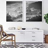 ARTPRIME Lámina Decorativa para enmarcar de Naturaleza. Set de Dos láminas para enmarcar de Paisaje Natural de montaña Impresión de Calidad. Papel de 250Gr.(A4)