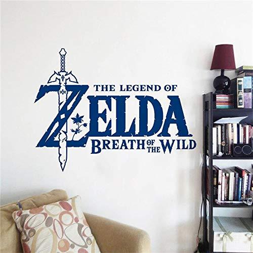 Juego de acción y aventuras Zelda Legend Breath Wild Swords Logo Link Vinilo Adhesivo de pared Calcomanía para coche Dormitorio de niño Sala de estar Sala de juegos Decoración para el hogar
