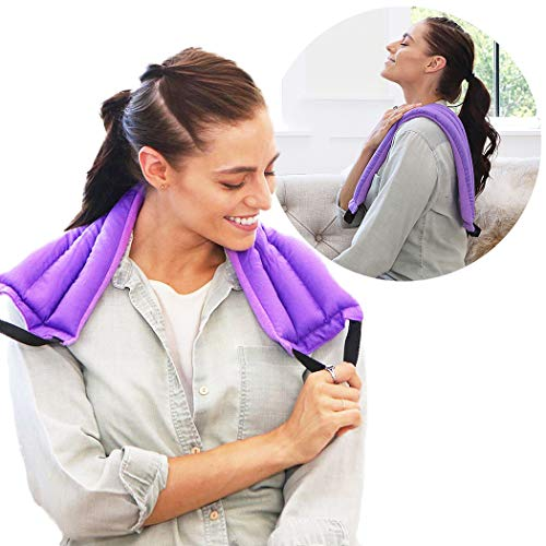 My Heating Pad Microwavable Multi Purpose Wrap for Cramps Relief | Heating Pad for Neck and Shoulders | Insomnia and Headache Relief | Reusable Hot Pack for Sore Muscles - Lavender Purple