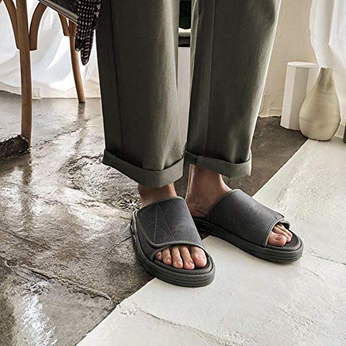 HZWL Hausschuhe Frauen Diabetiker Freizeitschuhe,mit Klettverschluss Damen Geschlossene Sandalen Diabetiker Orthopädische Verbandschuh Bequemer Rehaschuhe Grey-44