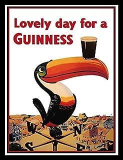 Buyartforless Framed Guinness Beer Lovely Day Toucan On Weather-Vane Advertising Art Print Poster, 36