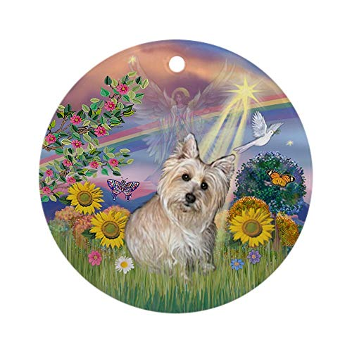 77 xiochgzish Cloud Angel-Wheaten Cairn Terrier Ornament (Round) Personalized ceramic Holiday Christmas Tree Ornaments Ideas 2019