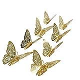 aooyaoo 48Pcs/Lot 3D Butterfly Kids Wall Stickers Fridge for Nursery Room Decoration...