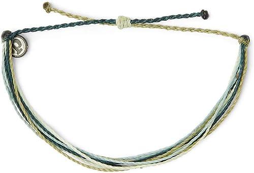 Pura Vida Jewelry Bracelets - 100% Waterproof and Handmade w/Coated Charm, Adjustable Band