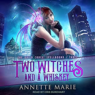 Two Witches and a Whiskey     The Guild Codex: Spellbound, Book 3              Written by:                                                                                                                                 Annette Marie                               Narrated by:                                                                                                                                 Cris Dukehart                      Length: 8 hrs and 9 mins     9 ratings     Overall 4.9