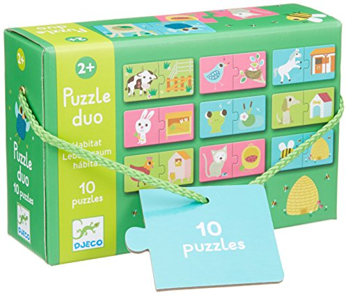 Djeco DJ08164 Puzzle Duo Habitat, Multicolour