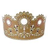 Youdoit 2 Coronas de cartón para roscón de Reyes - Cristal
