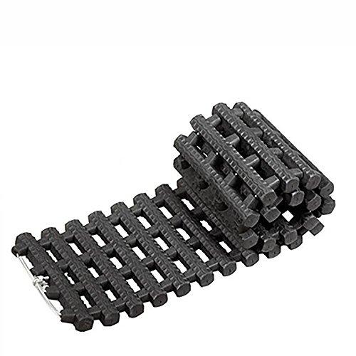 LPY-Tapis antidérapant de traction de pneu d'urgence Tapis pratique de traction d'hiver Tapis durable de pneu, approprié à la voiture de déglaçage de neige, de glace et de boue, noir