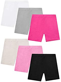 AUSDU 6 Pack Dance Shorts Girls Bike Short Breathable and Safety 6 Color