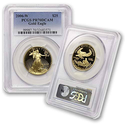 2006 W 1/2 oz Proof Gold American Eagle PR-70 Deep Cameo by CoinFolio $25 PR70DCAM PCGS