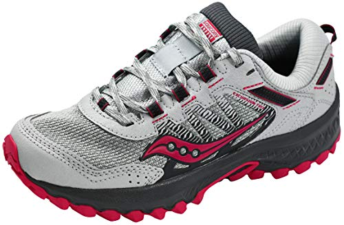 Saucony Women's Versafoam Excursion TR13 Trail Running Shoe, Grey/Berry, 8