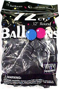 Tablemate Products 127201 72 Count Black Helium Balloon