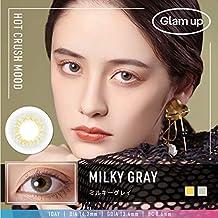 Glam up グラムアップ カラコン Milky gray ミルキーグレー 1day 10枚入り 度あり 度なし (-5.75)