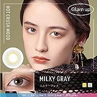 【Glam up 公式|特典付き】カラコン 1Day 10枚入り【Milky gray ミルキーグレー】度あり/度なし (-4.50)