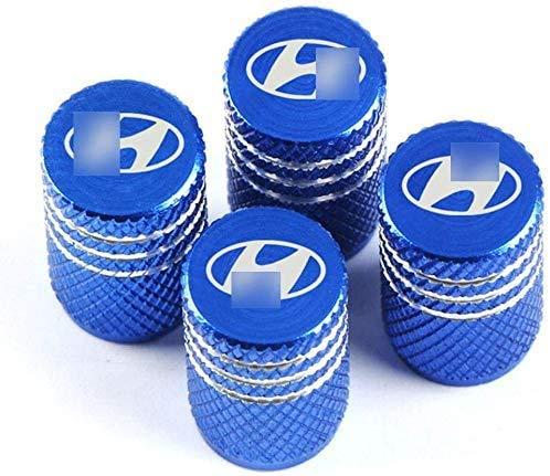 Tapones de válvula de 4 piezas, tapones de polvo de válvula de neumático para el estilo de coche Hyundai Tucson Solaris I30 Creta Ix35
