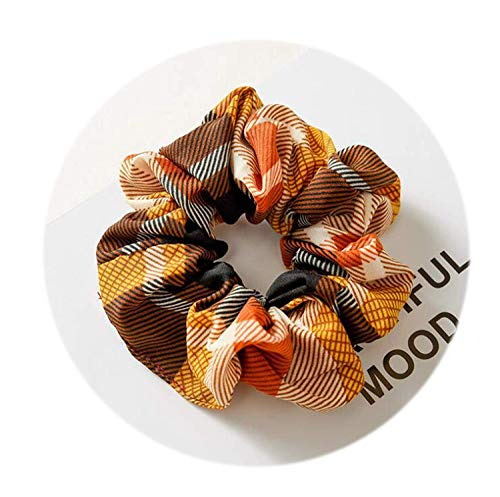 OULN1Y Bandeaux 2019 New Hair Scrunchies For Women Flower Elastic Hair Bands Headwear Ponytail Holder Hair Ties Ropes,White