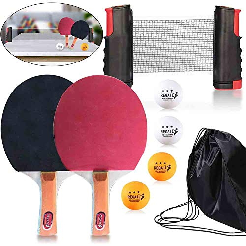 Read About ATYMD Table Tennis Bundle, All-in-ONE Ping Pong Set, Professional Table Tennis Racket Set...