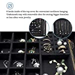 ProCase Jewelry Box Organizer for Women Girls, Two Layer Jewelry Display Storage Holder Case for Necklace Earrings Bracelets Rings Watches 8