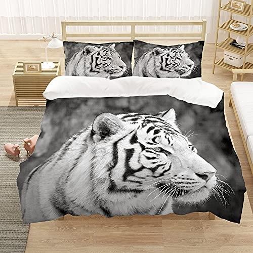 Animal Pattern Bed Funda nórdica de Lujo Impreso en 3D Tigre Textiles para el hogar Edredón Juegos de Cama Ropa de Cama Ropa de Cama Doble Individual 220x240cm 2