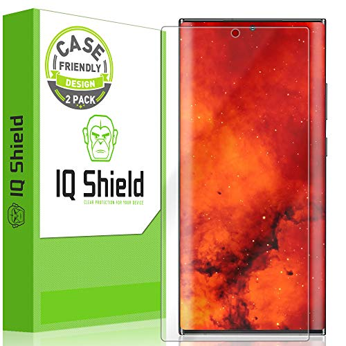 IQ Shield Screen Protector Compatible with Samsung Galaxy Note 20 Ultra (6.9 inch)(2-Pack)(Case Friendly) Anti-Bubble Clear Film