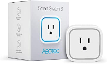 Aeotec Smart Switch 6, Z-Wave Plus Wireless Control Plug for Home Security Automation, 15A Mini Size, Monitor Power, New Design without USB port