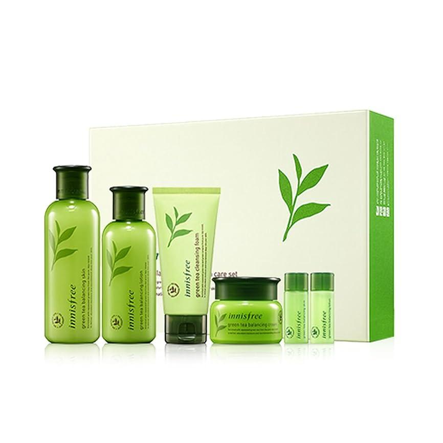 ゆり不定脱獄[イニスフリー]Innisfreeグリーンティーバランシングスペシャルスキンケア(スキン200ml +ローション160ml +クリーム50ml)セットInnisfree Green Tea Balancing Special Skin Care Set[海外直送品]