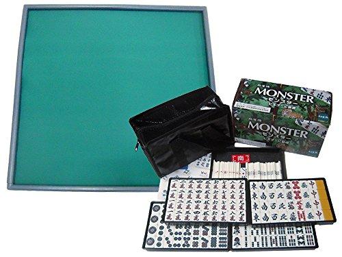 麻雀牌「MONSTER」麻雀マット「ライトマット」セット 標準牌モンスターと麻雀マット(LIGHTMAT)のセット