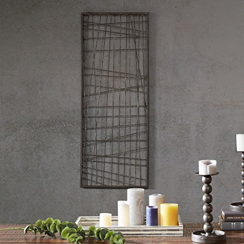 INK+IVY Savoy Wall Art - Metal Wire Framed Modern Abstract Erratic Design Living Room